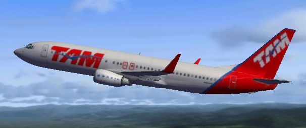 tam airlines boeing 737 800 for fsx