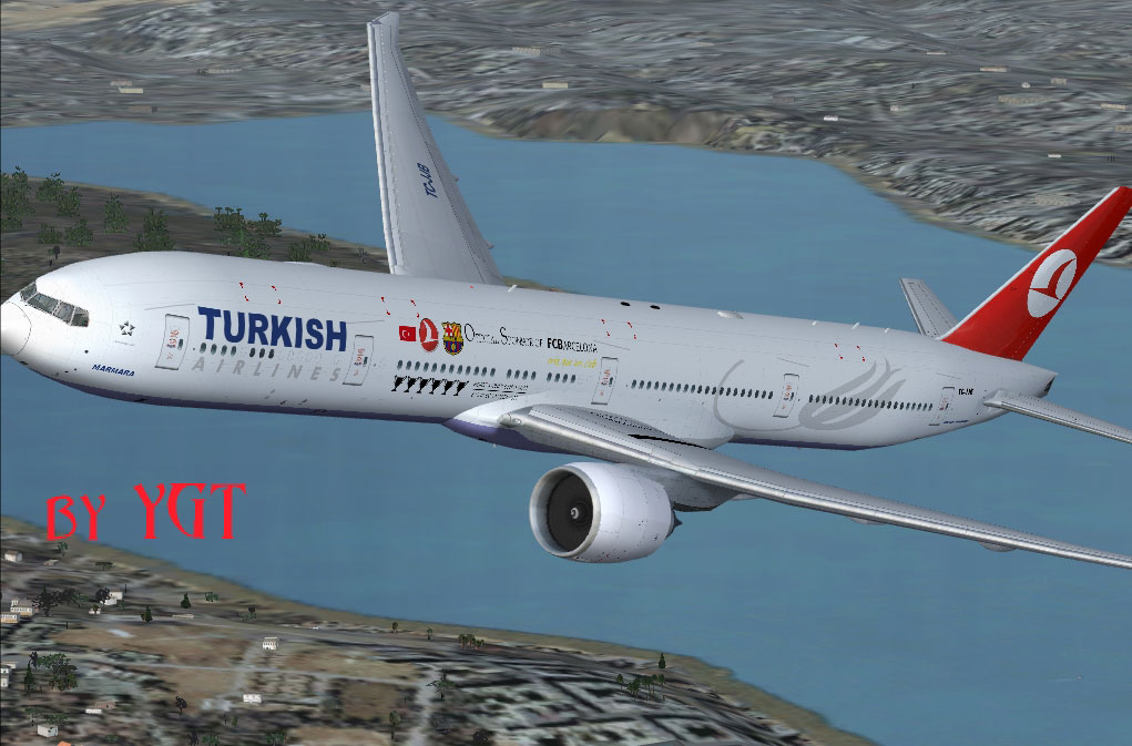 THY Barcelona Boeing 777-300ER for FSX