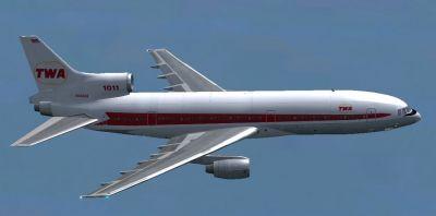 TWA Lockheed L1011 Tristar in flight.