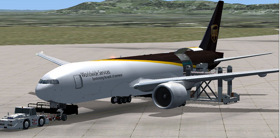 Ups Boeing 777 200 Freighter For Fsx