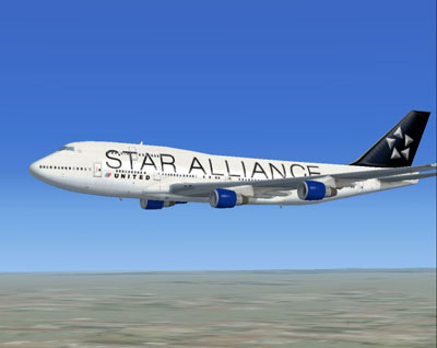 United Airlines Boeing 747-400 in Star Alliance Livery