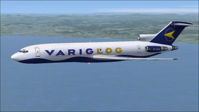 VARIGLOG Boeing 727-200F in flight.
