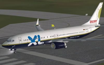 XL-Oger Tours Boeing 737-800 on runway.