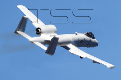 An A-10 in flight