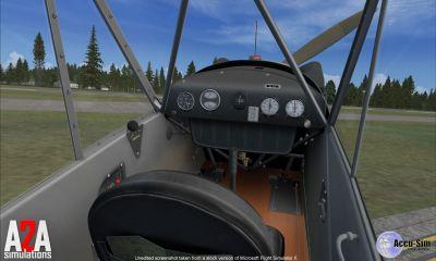 Cockpit of J-3 Cub