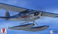 Piper cub with floats using the A2A expansion pack