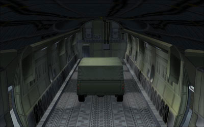 Cargo bay on Airbus A400M