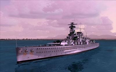 Deltasim's Admiral Graf Spee Battleship boat for Microsoft Flight Simulator X.