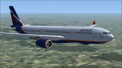 Aeroflot Airbus A330-300 in flight.