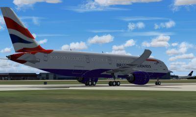 Aeroflot Airbus A350 on runway.
