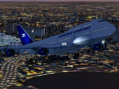 Aerolineas Argentinas Boeing 747-400.