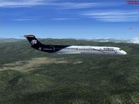 Aeromexico McDonnell Douglas MD-80 in flight.