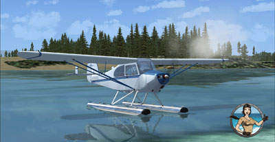 Aeronca Champion float plane in FSX