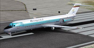 Aeropostal Douglas DC-9-30 on runway.