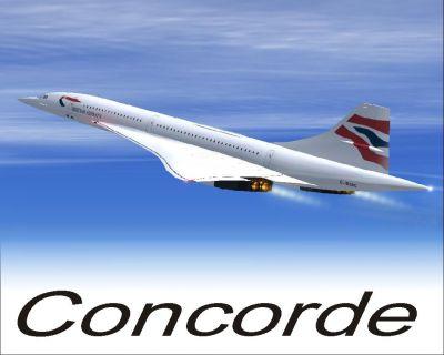 Aerospatiale Concorde BA, AF, SA.