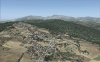 Screenshot using SceneryTech's Africa Landclass for FSX.