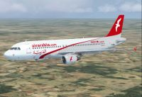 Air Arabia Maroc A320-214 in flight.