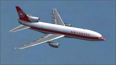 Air Canada Lockheed L1011 Tristar in flight.