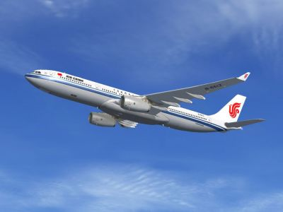 Air China Airbus A330 in flight.
