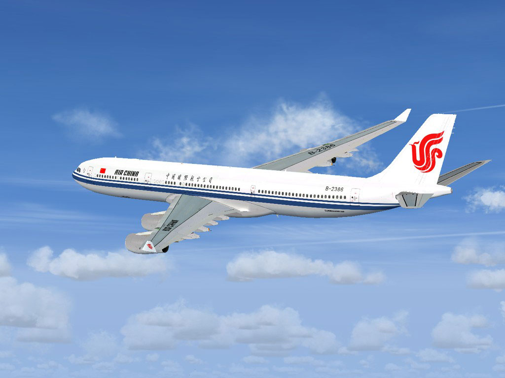air china airbus a340300 for fsx