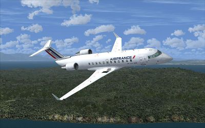 Air France CRJ200 in flight.