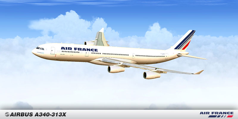 Air France Airbus A340-300 F-GLZM for FSX