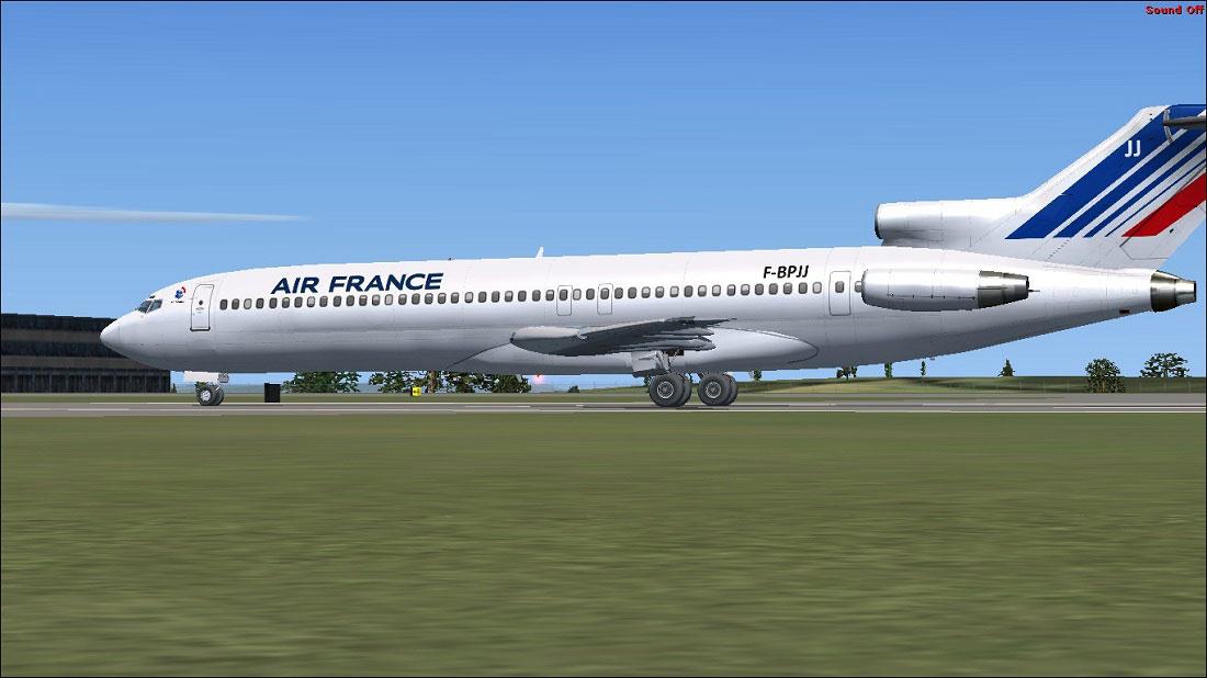 Air france boeing 727 200 on runway