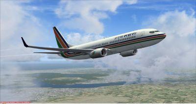 Air Sahara Boeing 737-800 in flight.