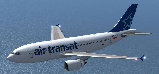air transat airbus a310 300 for fsx