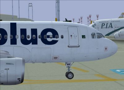 Airblue Airbus A319-112.