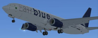 Airblue Airlines Boeing 737-800 in flight.