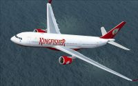 Airbus A330-200 Kingfisher in flight.