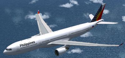 Airbus A333/A343 Philippines in flight.