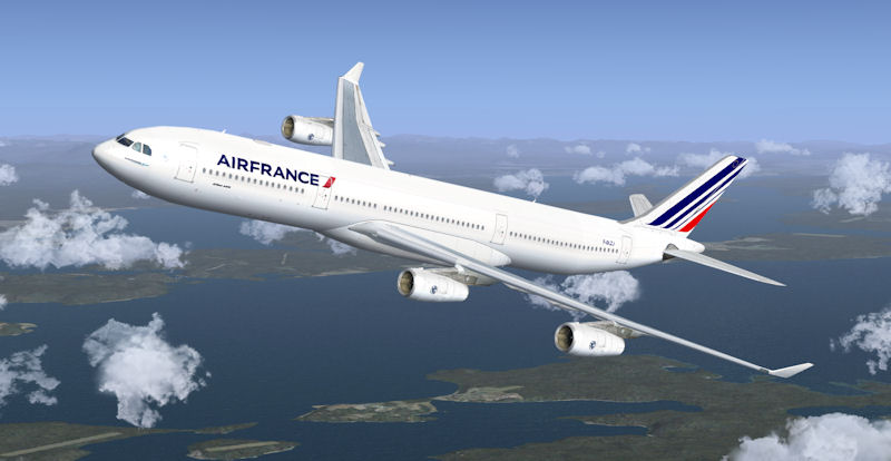 airbus a340 300 air france repaint for fsx. Black Bedroom Furniture Sets. Home Design Ideas