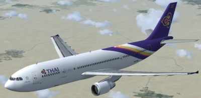 Thai Airbus A300-600R.