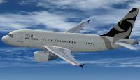 Al Jaber Aviation Airbus A318-112CJ Elite in flight.