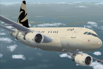Al Jaber Aviation Airbus A318-112CJ Elite.