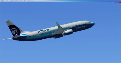 ''Spirit Of Alaska'' Airlines Boeing 737-800 in flight.
