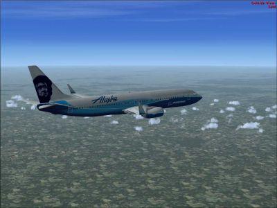 Alaska Airlines Boeing 737-800.