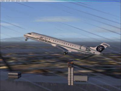 Alaska/Skywest Airlines CRJ-700 shortly after take-off.