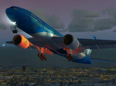 Alitalia Boeing 777-200ER.