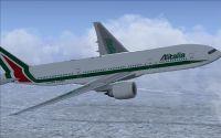 Alitalia Boeing 777-200.