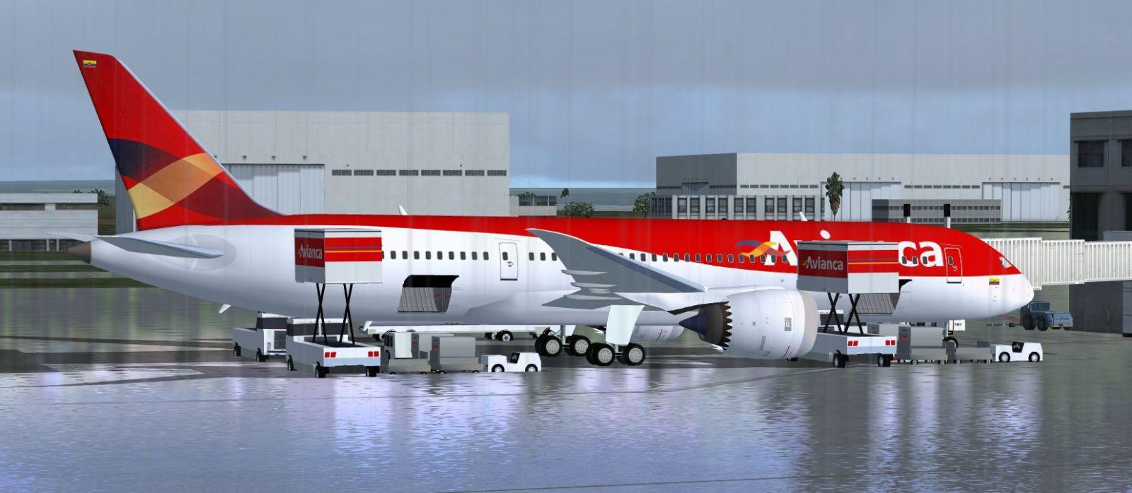 Avianca boeing 787 8 for fsx for Interior 787 avianca