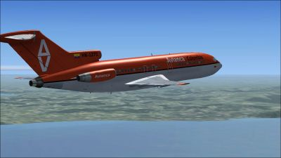 Avianca Colombia Boeing 727-100 in flight.