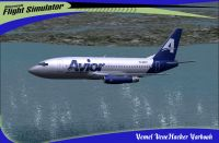Avior Boeing 737-200 in flight.