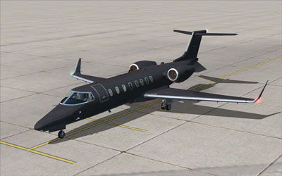 Black Learjet in FSX