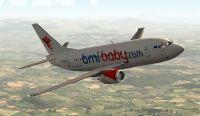 Bmi Baby Boeing 737-500 in flight.
