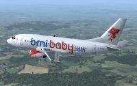 BmiBaby Boeing 737-500 in flight.