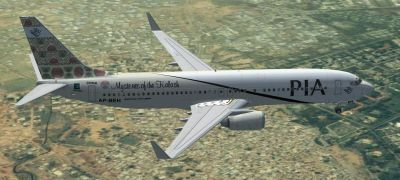 Pakistan International Airlines Boeing 737-800 ''Chitral Mysteries of the Kalash'' in flight.