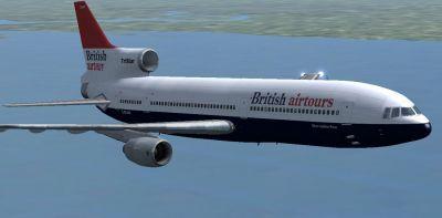 British Airtours Lockheed L1011 Tristar in flight.